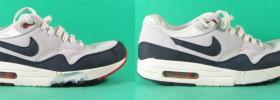 buty Nike wyprane w pralce