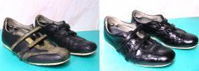 farbowanie na czarno obuwia sportowego