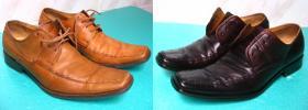 farbowanie jasnych butów męskich