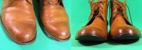 klejenie spodów i wykonanie nowych zelówek w męskich botkach