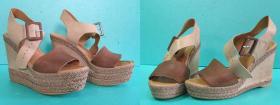 Skrócenie platform i koturnów w sandałkach na paski