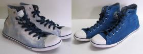 Farbowanie Conversów na niebiesko