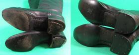 fleki i zelówki skórzane w oficerkach