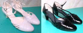farbowanie butów ślubnych oraz wymiana wkładek