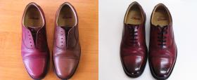 farbowane buty męskie z cieniowaniem czubków