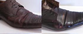 farbowanie zniszczonych butów męskich