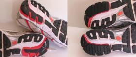 częściowa naprawa tylnych części spodów w butach Nike Air