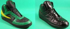 farbowanie sportowych butów Fila na czarno