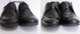 naprawa otarć w czubkach męskich butów wraz z czyszczeniem cholewek