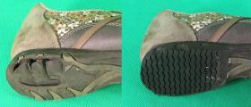 naprawa zapadniętych spodów gumowych w tylnej ich części