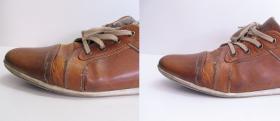 zszycie rozprucia bocznego w butach