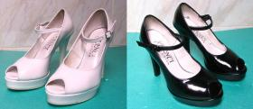 farbowanie na czarno buty Aranci