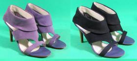 farbowanie zamszu w sandałkach