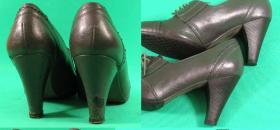 naprawa obcasów w szarych botkach Zara