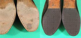 podzelowanie obuwia w męskich półbutach