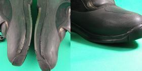 Klejenie spodów w butach motocyklowych