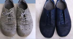 farbowanie-niebieskich-butów-nubukowych