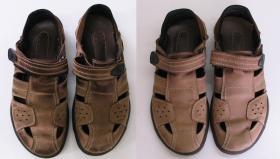 czyszczenie nubukowych sandałów