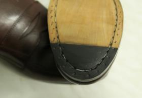 zabezpieczenie czubków w podeszwie skórzanej