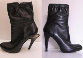 wymiana obcasów w czarnych botkach