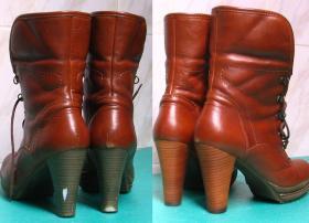 farbowane obcasy w botkach