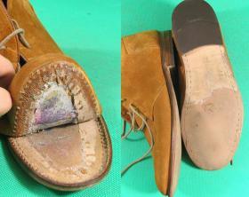 klejenie spodów w męskich botkach
