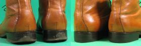 wymiana fleków i odnowienie obcasów w męskich botkach