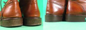 wymiana fleków w męskich butach skórzanych