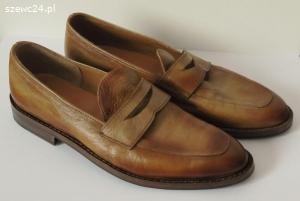Patynowane loafersy ze skóry kangura rozm.41